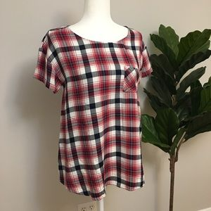 Isabel Maternity Plaid T-Shirt
